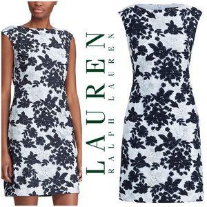 Lauren Ralph Lauren Mesh Lace Floral Dress Sz 12